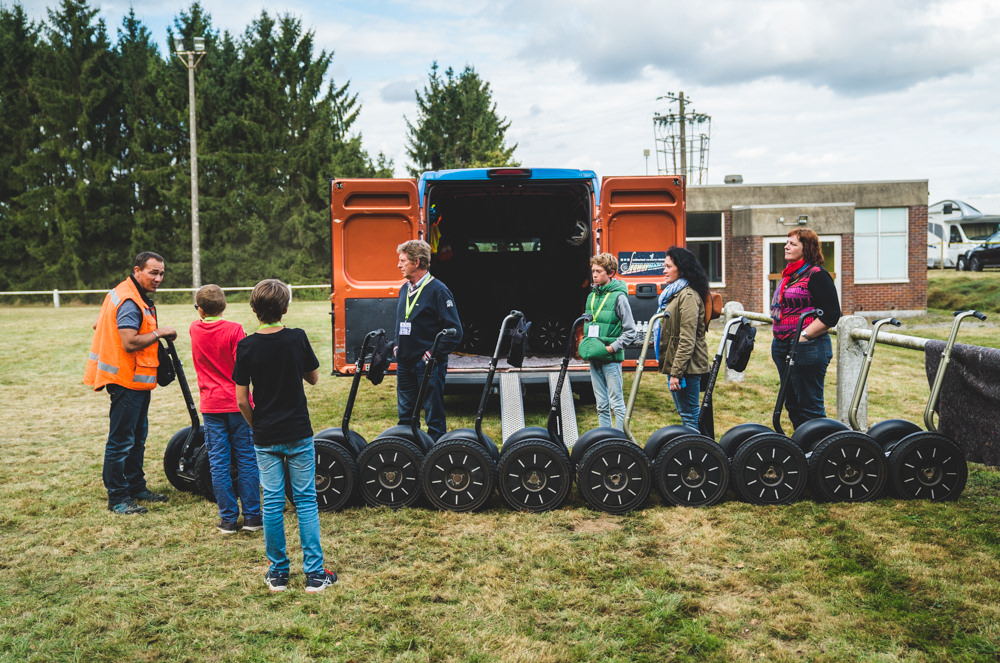 segway racing Off-road event chateau chérimont