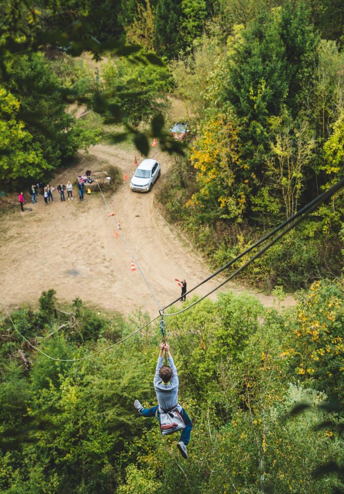 ziplining event chateau chérimont