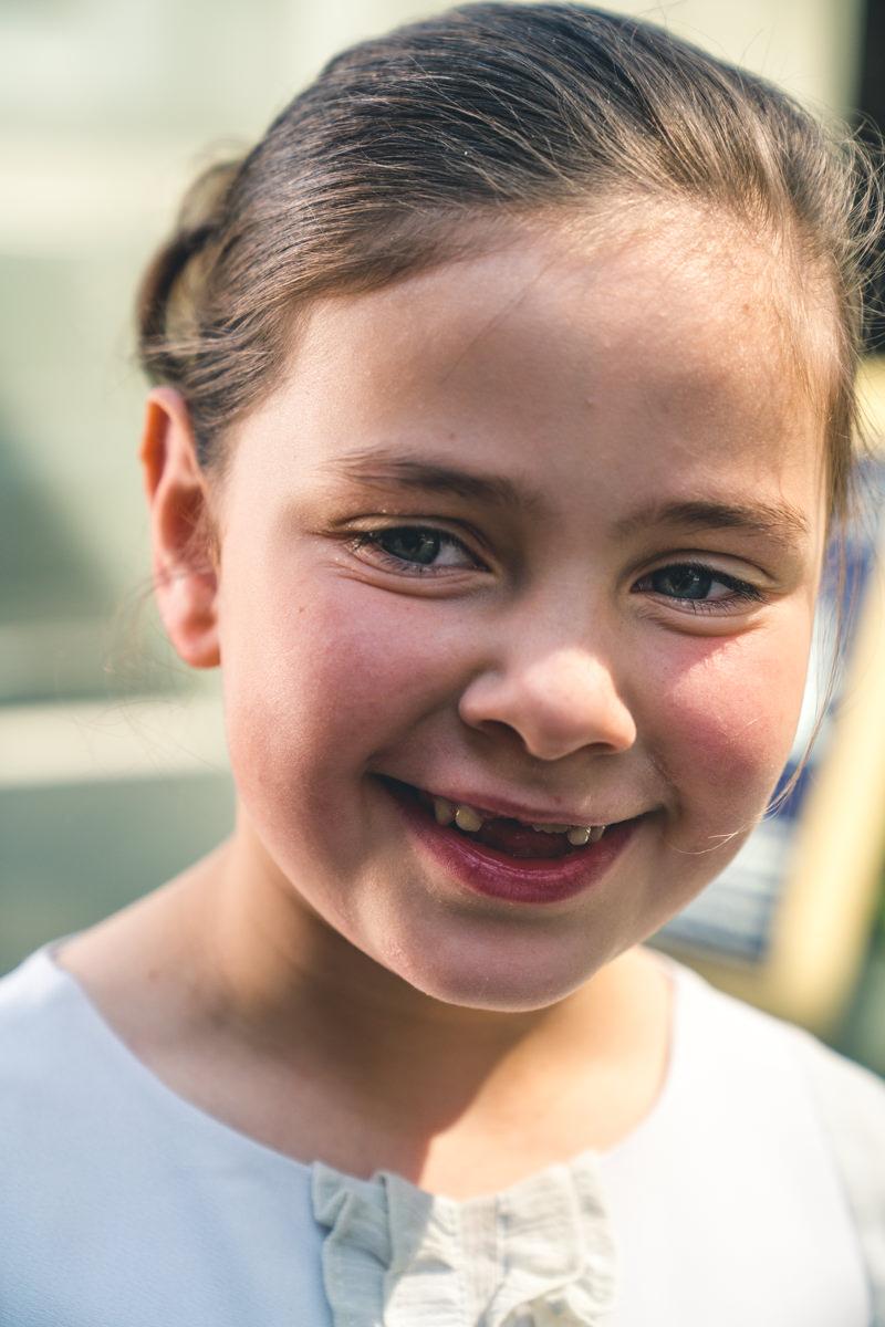 lachend meisje
