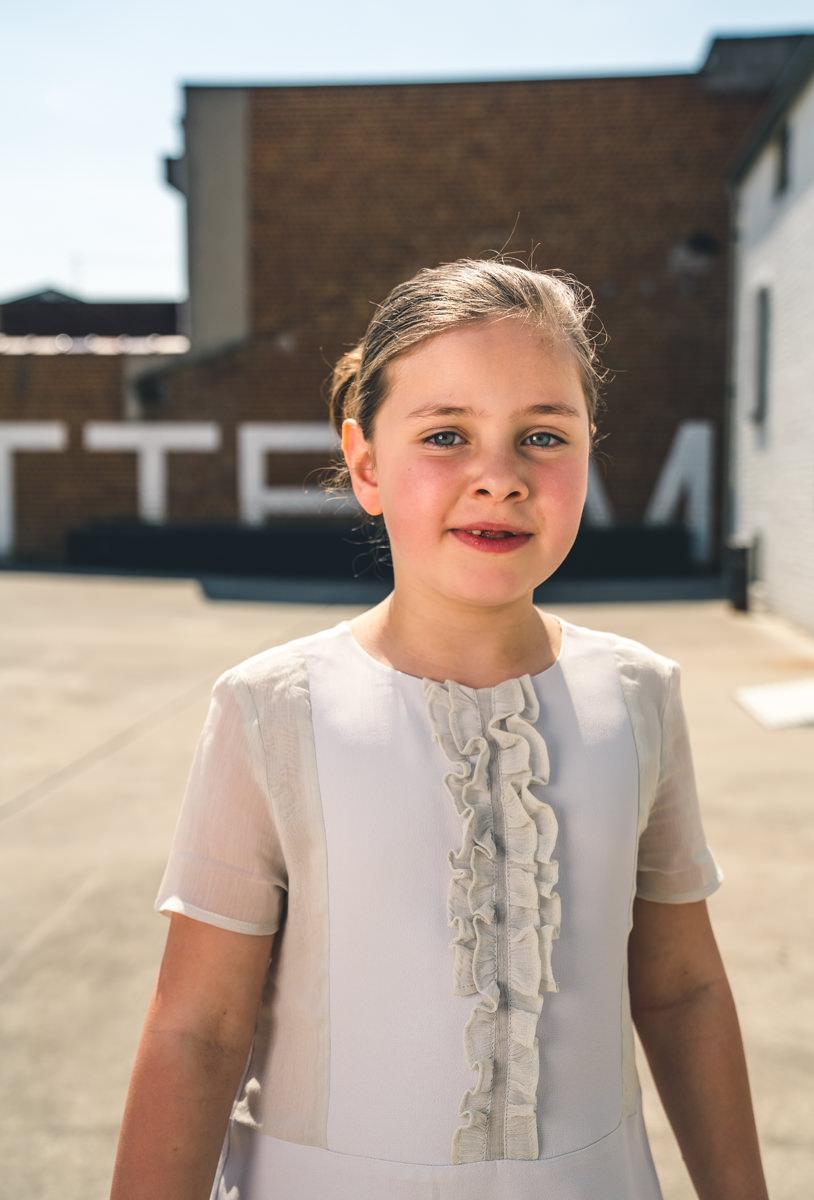 witte jurk portret