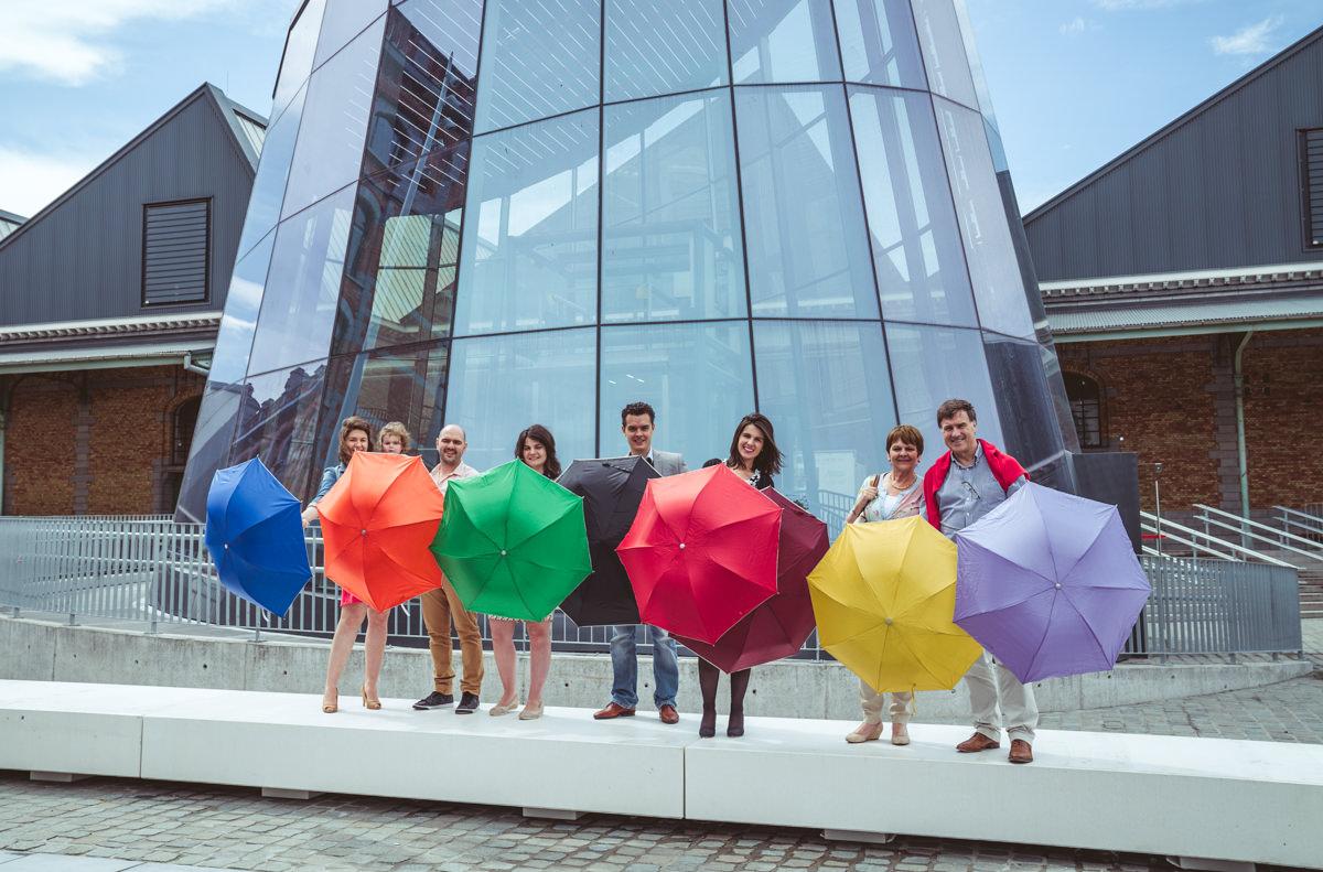 paraplu allerlei kleuren