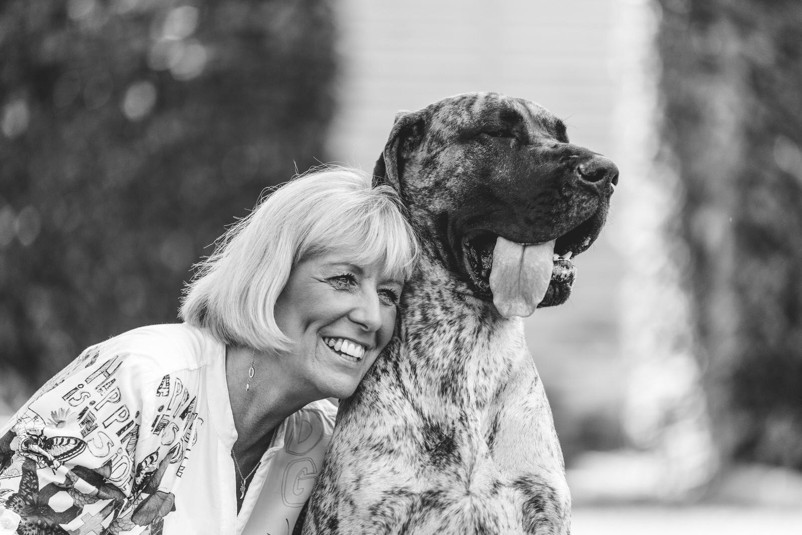 mom and dog