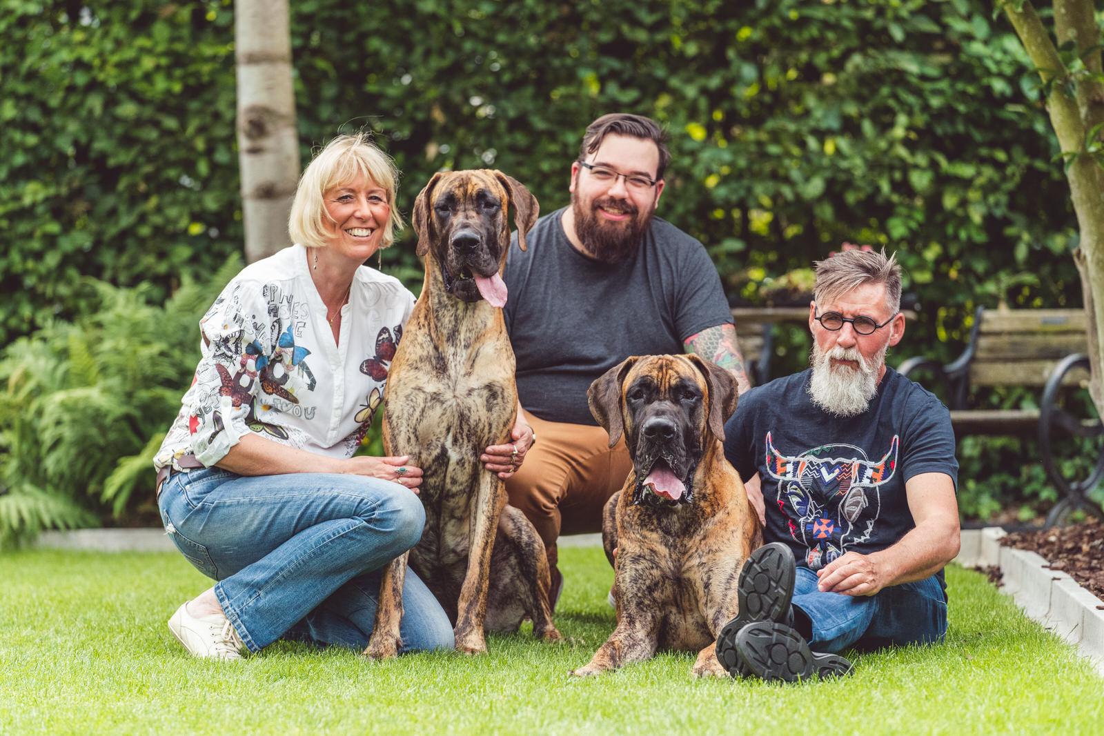 hondenportret familie