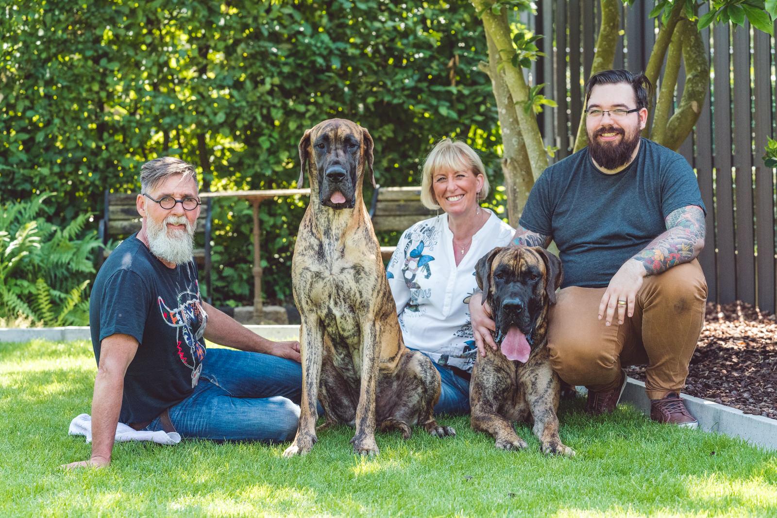 duitse dog familyportrait