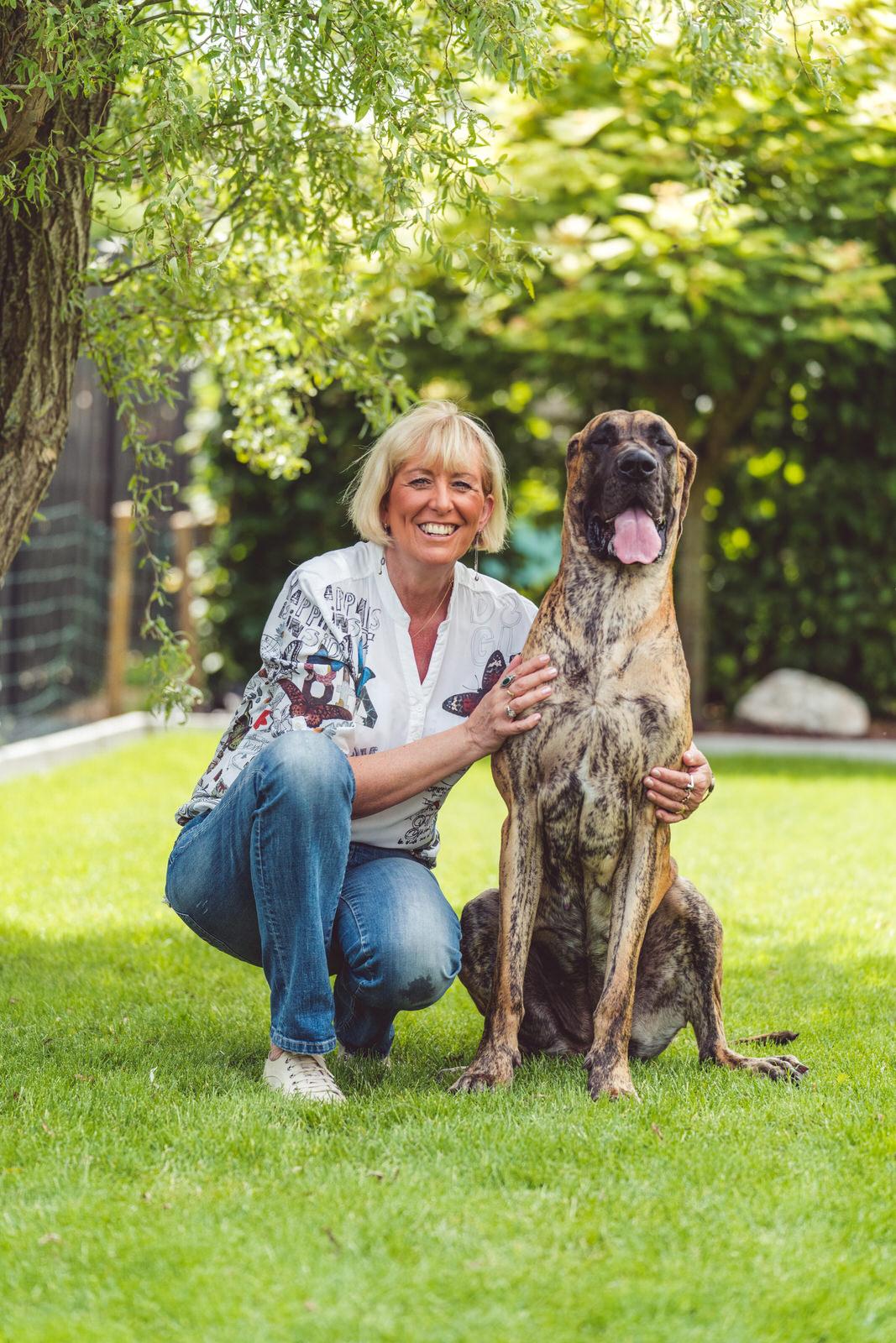 moeder en hond